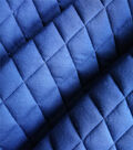 Varsity Club Quilted Knit Fabric -Navy & Gold Foil
