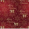 Christmas Cotton Fabric-Classic Christmas Greetings