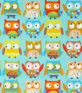 Soft & Comfy Fleece Fabric 57\u0022-Neutral Baby Owl