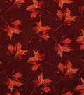 Harvest Cotton Fabric 44\u0022-Falling Watercolor Leaves