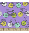Snuggle Flannel Fabric -Bicycles