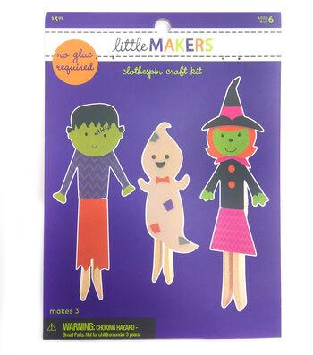 Little Maker's Clothespin Craft Kit-Halloween