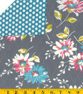 Made in America Cotton Fabric-Floral/Dot Double-Faced Quilt