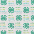4-H Cotton Fabric-Words