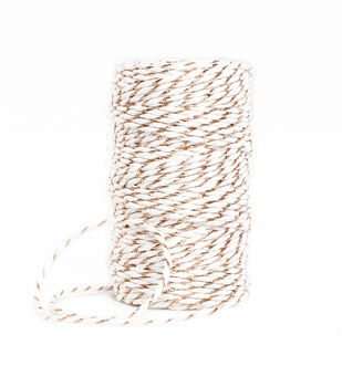 Park Lane Twine-Rose Gold & White