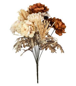 Faux flowers floral stems sprays joann blooming autumn hydrangea pinecone bush mightylinksfo