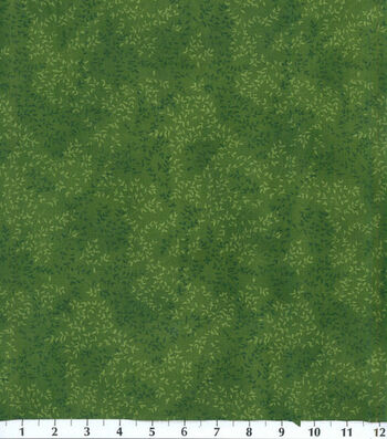 Keepsake Calico Cotton Fabric -Green Tonal Vine Leaf