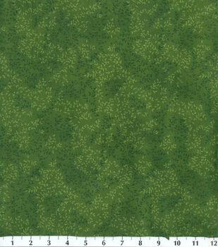 Keepsake Calico Cotton Fabric -Green Tonal Vine Leaf