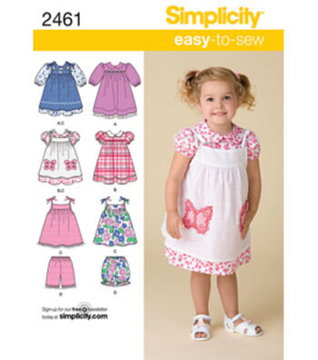 Simplicity Pattern 2461A 1/2-1-2-3--Simplicity Toddlers