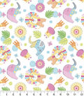 Nursery Flannel Fabric -Jungle Animals