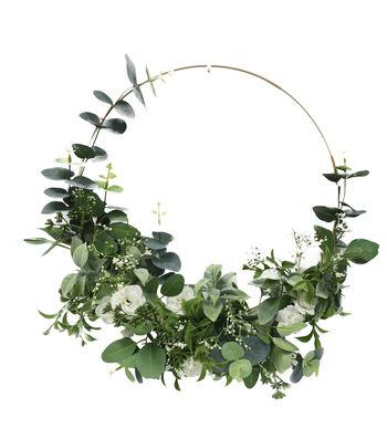 Fresh Picked Spring 23'' Baby's Breath & Leaf Wreath