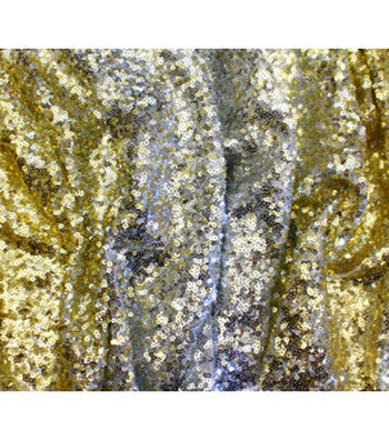 Casa Embellish Spring Ombre Sequin Fabric -Silver & Gold