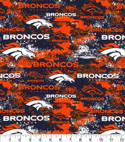 Denver Broncos Cotton Fabric-Distressed, , hi-res