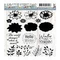 Precious Marieke Winter Flowers 18 pk Clear Stamps-Hello Winter