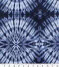 Anti-Pill Plush Fleece Fabric-Navy Tonal Tie Dye