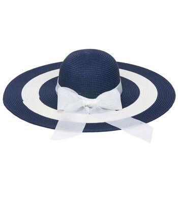 Ultra Brim Sunhat-Blue & White Stripe