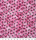 Novelty Cotton Fabric -Paws on Pink Tie Dye