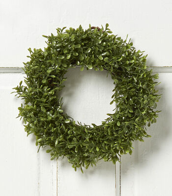 Bloom Room 10'' Soft Touch Boxwood Wreath-Green
