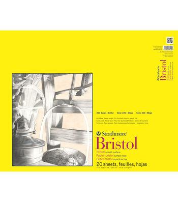 Strathmore 300 Series 19x24'' Bristol Smooth Pad