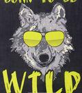 No Sew Fleece Throw 48\u0022-Born To Be Wild Panel