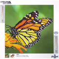 Leisure Arts Diamond Art Intermediate Kit 12\u0027\u0027X12\u0027\u0027-Monarch Butterfly