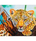Diamond Embroidery Facet Art Kit 21.7\u0022X17.2\u0022-Leopard Look