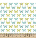 Snuggle Flannel Fabric -Butterfly Set Mint