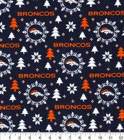 Christmas Denver Broncos Flannel Fabric-Holiday, , hi-res