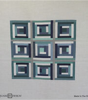 Square By Design Multi-Purpose Decor Fabric 25''-Grays & Blues Geometric, , hi-res