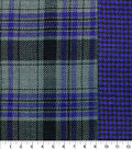 Perfectly Plaid Fabric-Reversible Navy Gray