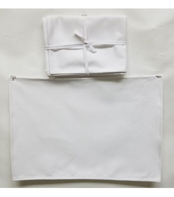 4pc Placemat Value Pack-White