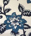Apparel Knit Fabric 57\u0022-Ivory, Blue & Burgundy Floral