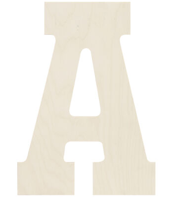 Baltic Birch Collegiate Font Letters & Numbers 13.5""