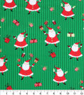 Keepsake Calico Holiday Cotton Fabric 43\u0022-Santa and Presents