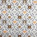 Nursery Cotton Fabric-Eamon Circle with Faces