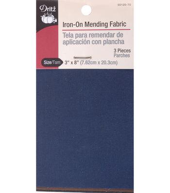 "Dritz Iron-On Mending 3pk Fabric 3""x8"""