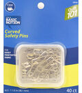 Dritz Quilt 101 Curved Safety Pins 40pcs Size 2