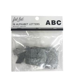 Fab Lab Craft 36 pk Galvanized Uppercase Alphabet Letters