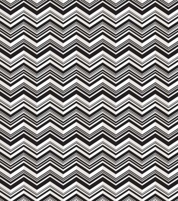 Babyville Black Chevron Pul Print Fabric