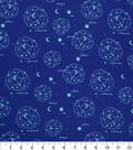 Novelty Cotton Fabric -Constellations Sketch