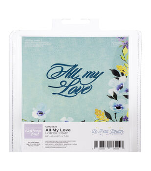 Couture Creations Le Petit Jardin 2.4''x1.8'' Hotfoil Stamp-All My Love