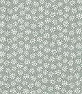 Quilter\u0027s Showcase Cotton Fabric 44\u0027\u0027-Daisy on Gray