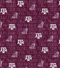 Texas A&M University Aggies Cotton Fabric -Distressed