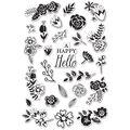 Hero Arts Flower Garden Clear Stamps
