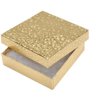 "Darice Jewelry Boxes Gold 3.5""X3.5""X0.88"""