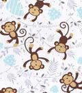 Nursery Flannel Fabric 42\u0022-Monkey Words