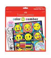 "Color By Number Kit 9""X9""-Emoji, , hi-res"