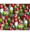 Christmas Cotton Fabric 44\u0022-Ornaments