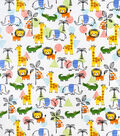 Snuggle Flannel Fabric-Jungle Fun Animals