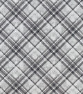 Snuggle Flannel Fabric-Distressed Gray Plaid